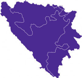 Map Bosnia Regions
